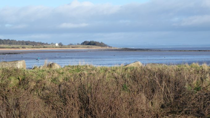 View from garden across Gillfoot Bay to Powillimont